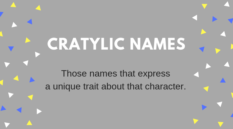 Naming Characters Using Their Most Obvious Trait - Cratylic Naming