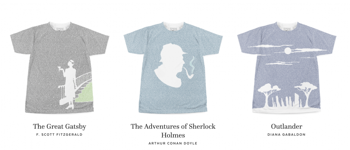 Litographs - your favorite novel on a t-shirt, scarf, and more