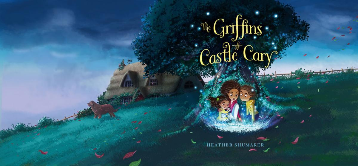 The full cover of new middle-grade novel - The Griffins of Castle Cary