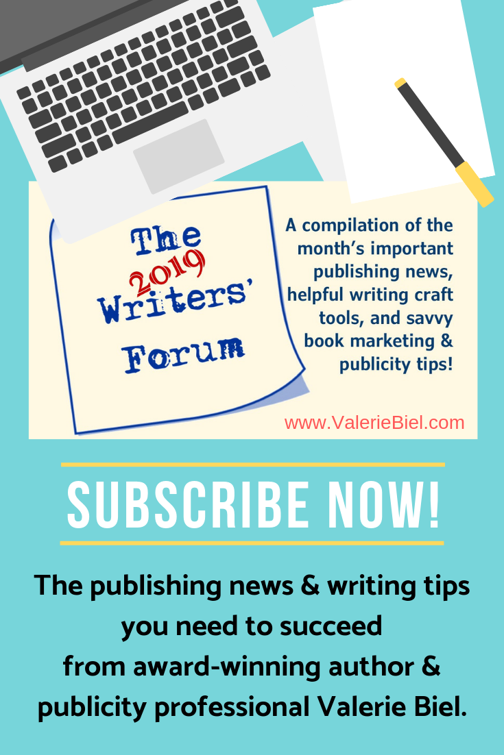 Don't miss any important writing and publishing information: Subscribe Today!