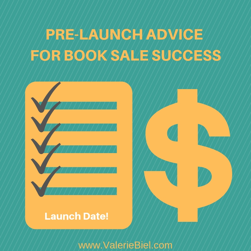 Pre-launch advice for book sale success.
